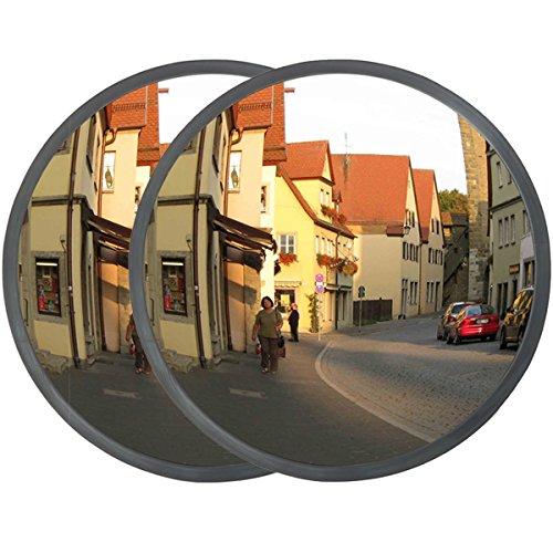 DXP 2x specchio di sicurezza convesso contanti specchio interno esterno 30 cm sorveglianza panoramica specchio specchi convessi CGJJ01(2)