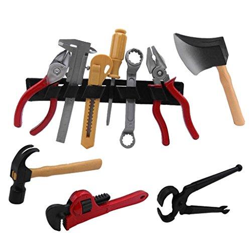 Gazechimp Lernspielzeug Set Simulation Werkzeug Rollenspiele Kunststoff Mini Simulation Reparatur Kit für Kinder (14 Stück / ()