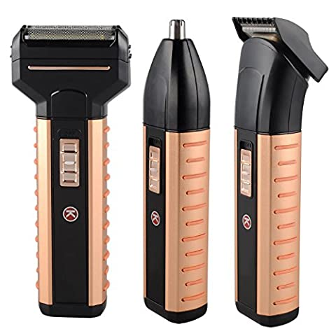Men's 3 in 1 Rechargeable Grooming Kit, Electric Foil Shaver,