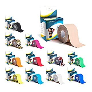KG Physio Kinesiology Tape - Uncut Muscle Sports Tape - 5cm x 5m roll Images are exact photos of our products for accurate colour representation (Beige)