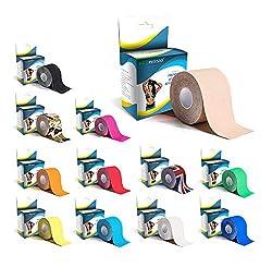 KG Physio Kinesiologie tape 5cm x 5m Rolle ungeschnittenes Physio tape - Bei den Bildern handelt es sich um exakte Produktfotos für eine genaue Farbdarstellung (Beige)