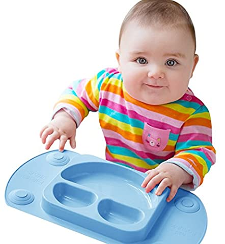 Mini easymat® für Hochstuhl und Travel Füttern. Tragbar Baby Saugnapf