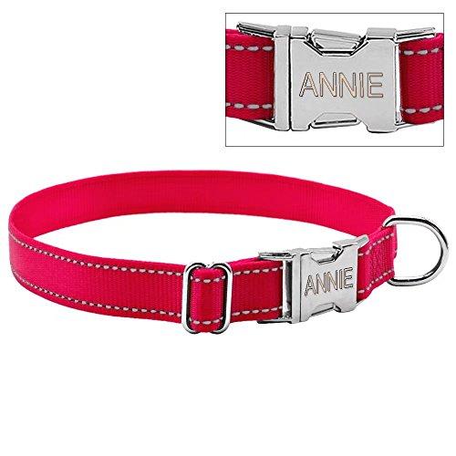 Collar Berry para perro de nailon con grabado personalizado para perros de tamaño mediano y grande