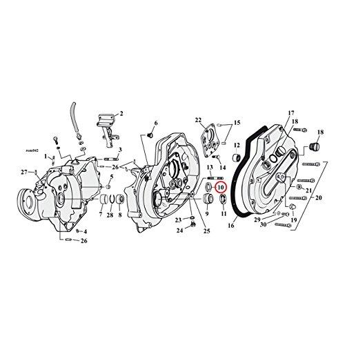 Sprocket Shaft Bearing (MCS Sprocket Shaft Bearing Spacer.110 Inch - 77-03 XL.)