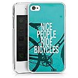 Apple iPhone 4s Coque Étui Housse Nice People Ride Bicycles
