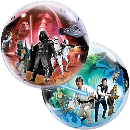 0474Single Bubble Star Wars Latex Ballon, 22 ()