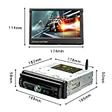 """Podofo Android 8.0 Car Stereo Single Din 7"""" in Touch Screen GPS Navigation In-dash DVD Player Steering Wheel Control 1 Din Car Radio FM/AM Hands Free Calling AUX/FM/USB/MP3/MP4"""