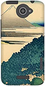 The Racoon Grip The Coast of Seven Leagues in Kamakura hard plastic printed back case / cover for HTC One X