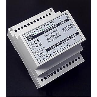 24VDC Trennrelais Rollladensteuerung mit Selbsthaltung für Hutschiene. 3 Motore Art. 024-15013-17