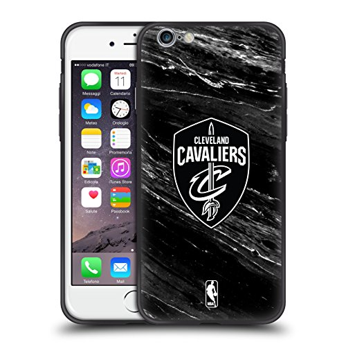 Head Case Designs Offizielle NBA S&W Marmor Cleveland Cavaliers Skinny Fit Hybride Durchsichtig Hülle für Apple iPhone 6 / iPhone 6s - Cleveland Cavaliers Cellular Phone Case
