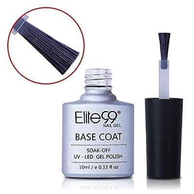 Elite99 Nail Gel Polish No Wipe Top Coat Base Coat Nail Soak Off UV LED Gel Lacquer Foundation Sealer Long-lasting 10ML