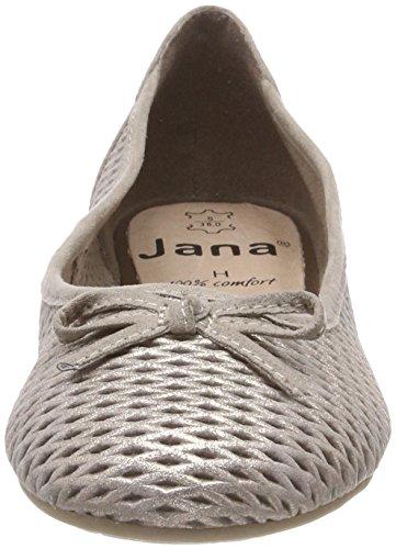 Jana 22102, Ballerine Donna Beige (taupe / Métal)