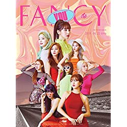 JYP Twice - Fancy You [B Ver.] (7th Mini álbum) CD + Libro de Fotos + 5 Tarjetas de Fotos + Pegatina + póster Plegado [al Azar] + 2 Tarjetas de Fotos adicionales