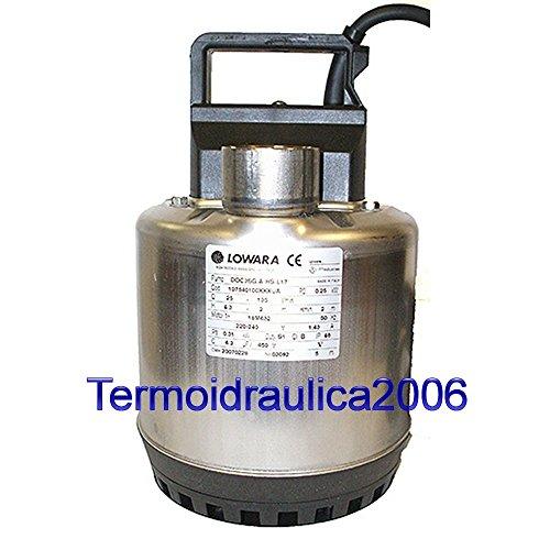 Lowara DOC Schmutzwasser-Tauchpumpe DOC7T/A 0,55KW 0,75HP 3x400V 50Hz