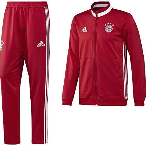 adidas Herren FC Bayern Polyester Suit Trainingsanzug, Fcb True Red/White, 3XL