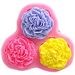 SaySure - 3 flower hower party fondant molds,silicone mold soap