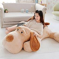 Peluche gigante de perro sabueso acostado para decoración infantil de interiores, 119 cm 120 cm