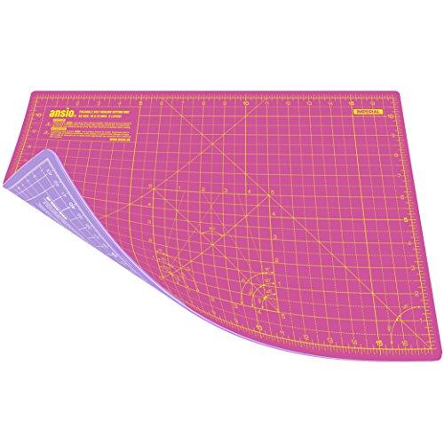 ANSIO A3 Doppelseitige Selbstheilung 5 Schichten Schneidematte Imperial / Metric 16 Zoll x 10 Zoll / 43 cm x 28 cm : Pink/ lavendelfarben
