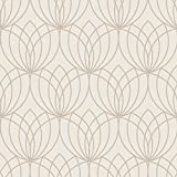 Lotus Geometrische Tapete Gold Muriva 148502