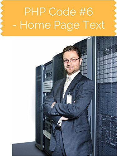 PHP Code #6 Home Page Text [OV]
