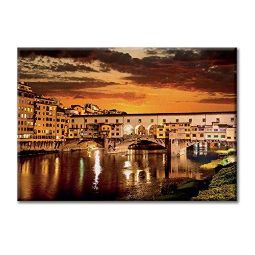 Florenz-panel (Leinwand-Panel Leinwand Italien Florenz Ponte Vecchio Mobel 100x70)