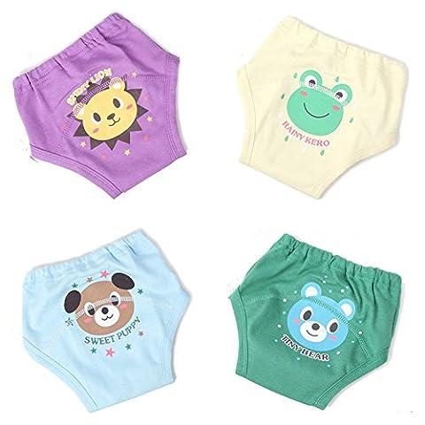 Ledyoung Bébé Potty Enfants Slip de Sous-vêtements Enfant Sous-vêtements à Pain, Lot de 4