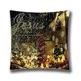 Die besten Kissenbezug Weihnachtsschmuck - Weihnachten Dekoratives Kissen cover-custom Religiöse Weihnachten 18x 18Baumwolle Bewertungen