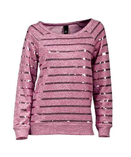 Heine - Best Connections Damen-Shirt Sweatshirt mit Pailletten Pink Größe 44