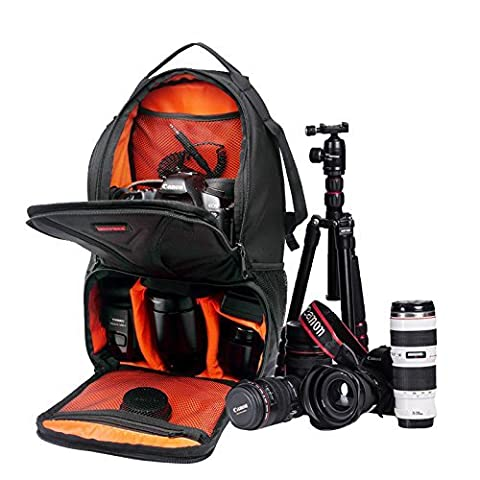 "Huntvp Camera Sling Chest Backpack Waterproof Photography Rucksack for DSLR SLR Cameras(Size:10"" x 17.3""x 7.48"") Orange"