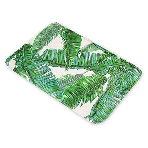 Tropical Rainforest Feuilles Tapis de sol American Tapis Vert antidérapant pour salle de bain Intérieur/extérieur Paillasson Alfombras rectangle Tapis pour le salon Tapis de cuisine moquettes enfants Chambre à coucher