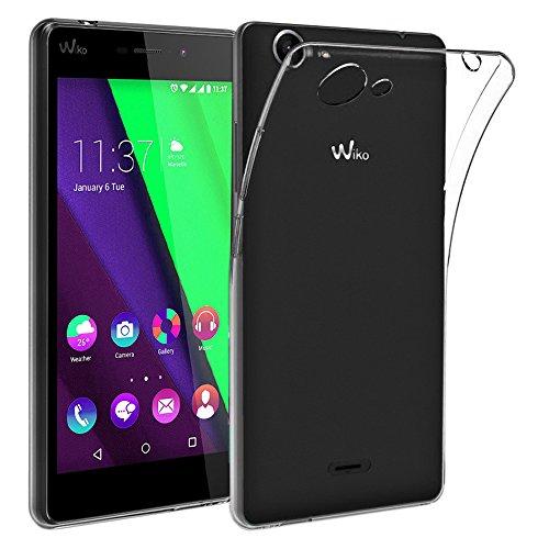 ebestStar - Wiko Pulp Fab 4G Hülle Handyhülle [Ultra Dünn], Premium Durchsichtige Klar TPU Schutzhülle, Soft Flex Silikon, Transparent [Phone: 155.4 x 79.3 x 8.5mm, 5.5'']