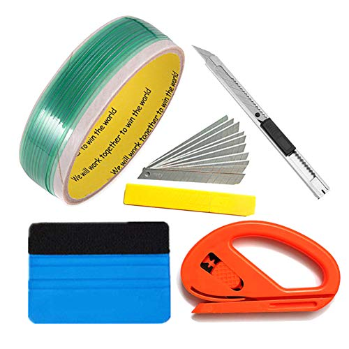 403b27149b493 Ohwens 5M Knifeless Finish Tape with Squeegee Tools Kit for Car Vinyl  Wrapping Trim Cutting