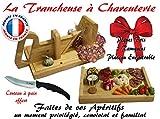 Guillotine à Saucisson Familiale Le Berger, Plateau de dégustation encastrable & Accessoires et Couteau à pain Offert