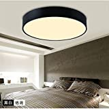 Led iron ceiling light square bedroom light modern minimalist living room light and warm lighting, Smart Segmentation Bi-color, small circle: 400MM/LED36 w