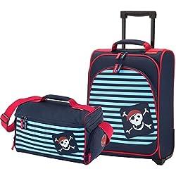 Youngster Travelite- Juego de maleta infantil y bolsa de viaje, 43x 31x 18 cm, diseño de pirata