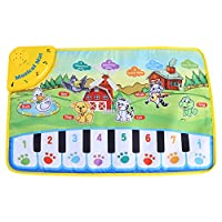 Zerodis Musical Dance Mat Baby Early Education Music Piano Keyboard Play Mat Activity Gym Blanket Learn Singing Funny Toy Gift for Kids Toddlers