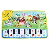 Fdit Teppich Baby Musik Kinder kriechen Piano Teppich Multifunktionale Baby Musik Decke Motiv mit Tiere Geschenk 60* 39cm