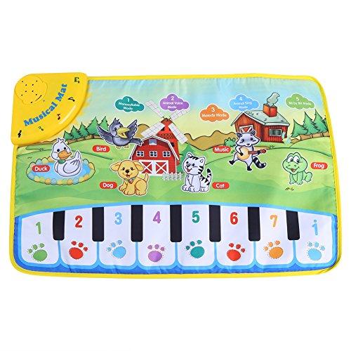 Teppich Baby Musik Kinder kriechen Piano Teppich Multifunktionale Baby Musik Decke Motiv mit Tiere Geschenk 60* 39cm