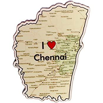 Buy Eco Corner - I Love Chennai - Magnet - MDF/Recycled