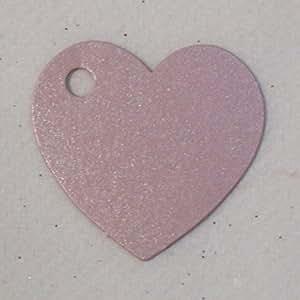 Coeur perforé en carton - rose - paquet de 10