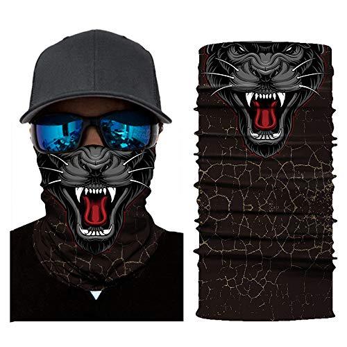 MMLC Fishing Face Shields Multifunktionstuch Totenkopf Maske Clown Halstuch Halloween Kostüme Motorrad Ski Jagen Fahrrad (B)