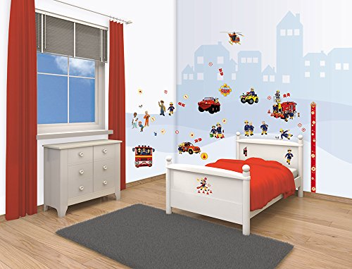 Walltastic, Kit para Decorar tu habitación, Sam el Bombero