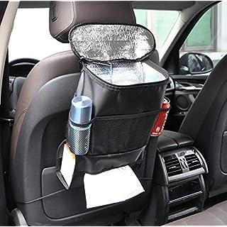 BAYLI KFZ Auto Rücksitztasche Thermotasche Kühltasche Rückenlehnentasche mit Kühlfach Iso Tasche Organizer Rückenlehnenschutz