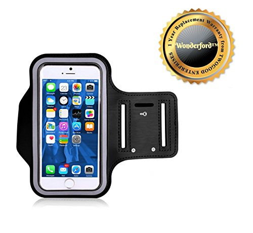 Wonderford Sweatproof Sports Mobile Holder Arm Band Best for Jogging, Gym, Cyclicng and Outdoors Compatible With Xiaomi Mi, Apple iPhone & iPad, Samsung, Sony, Lenovo, Oppo, Vivo and All Smartphones(1 Year Warranty, Assorted Colour)  available at amazon for Rs.195
