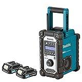 Makita DMR109 10.8v-18v LXT/CXT LI-ion Job Site Radio With 2 x BL1020B 10.8Ah Batteries