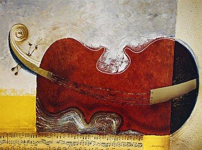 Bremand Poster Kunstdruck Bild Le repos du violon 60x80cm