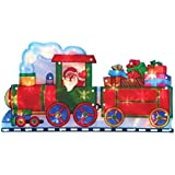 The Christmas Workshop 20 LED Battery Operated Santa in a Train Silhouette Light