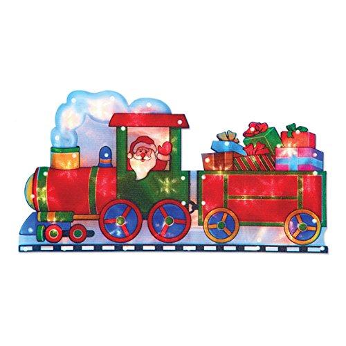 The Christmas Workshop 20LED Santa in einem Zug Silhouette, batteriebetrieben -