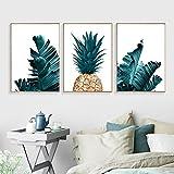 bdrsjdsb Nordic Ananas Pflanze Malerei Dekorative Bild Home Wohnzimmer Wandkunst Dekor Poster 2# 20 cm x 30 cm