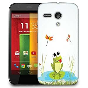 Snoogg Background With Frog Designer Protective Phone Back Case Cover For Motorola G / Moto G